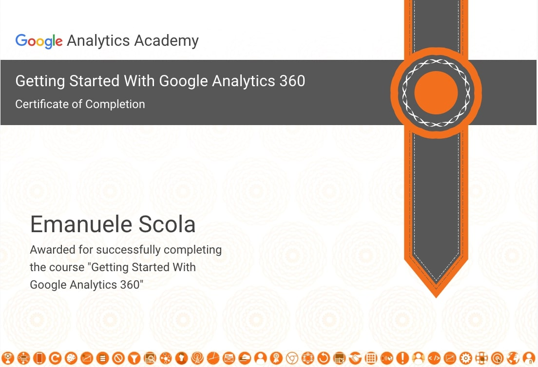 Certificate Getting Started With Google Analytics 360