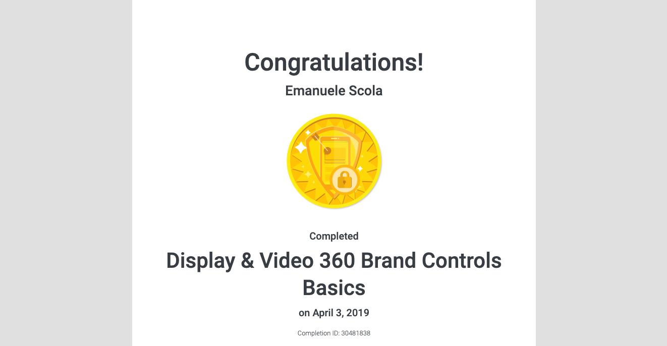 Display & Video 360 Brand Controls Basics