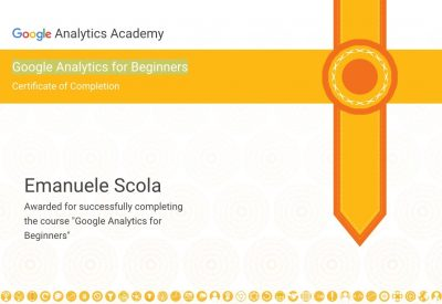 Certificazione Google Analytics for Beginners