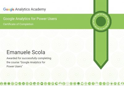 Certificazione Google Analytics for Power Users