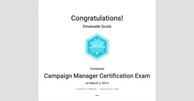 Certificazione Campaing Manager Exam